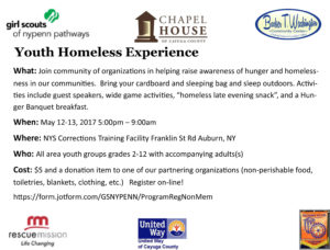 Youth Homeless Experience Flyer